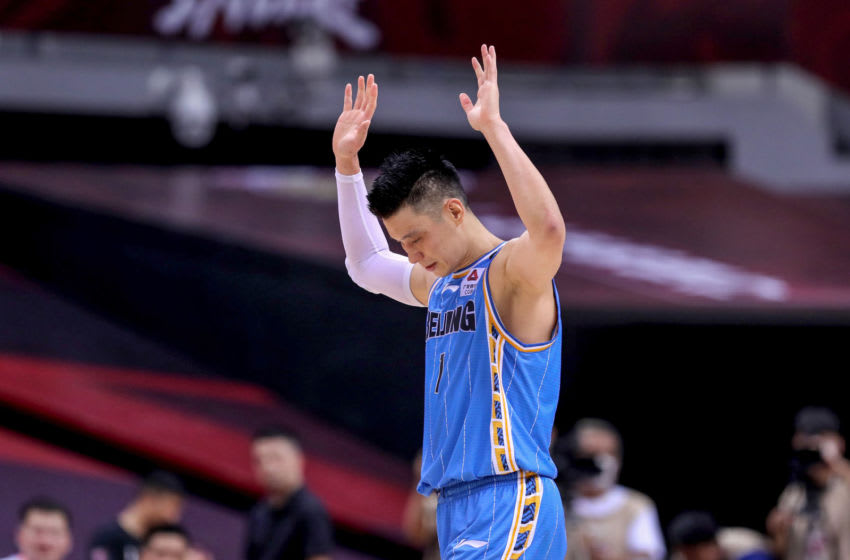 This photo taken on August 4, 2020 shows Beijing Ducks' Jeremy Lin (Photo by STR/AFP via Getty Images)