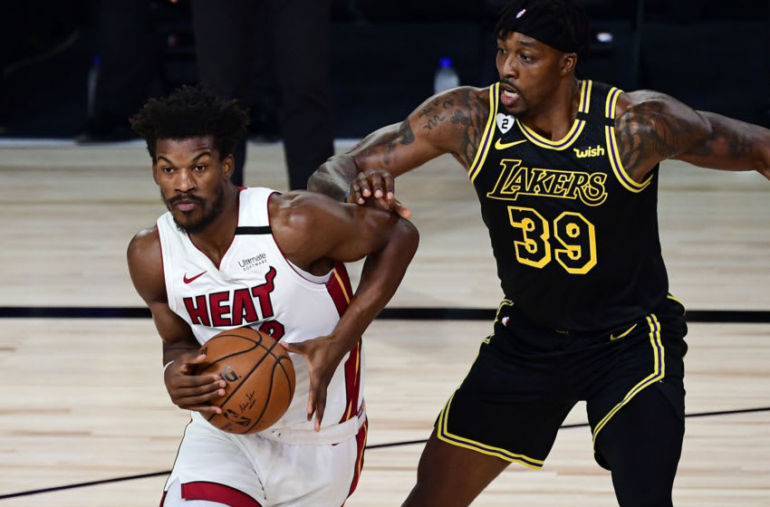 Jimmy Butler, Miami Heat, Dwight Howard, Los Angeles Lakers, (Photo by Douglas P. DeFelice/Getty Images)