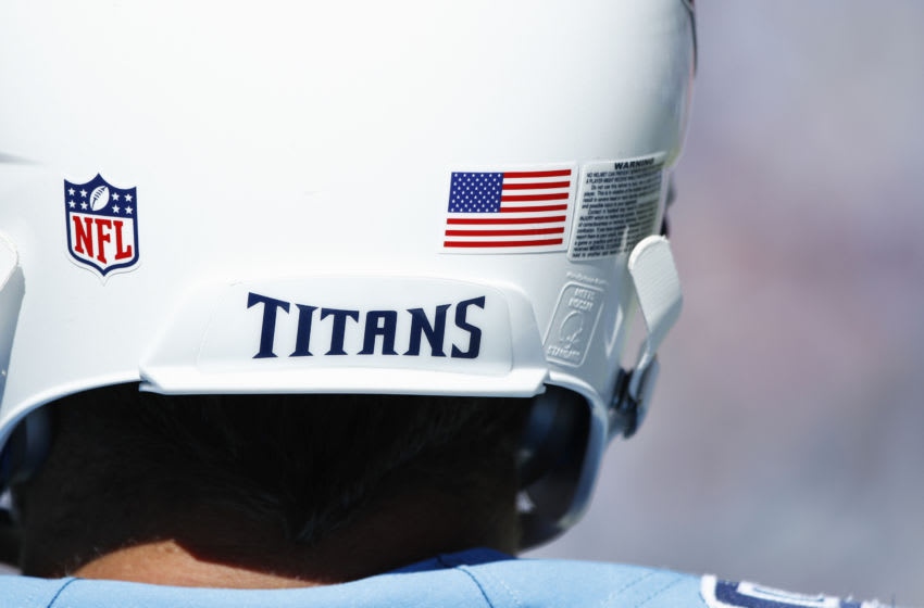 Tennessee Titans helmet (Photo by Joe Robbins/Getty Images) *** Local Caption ***