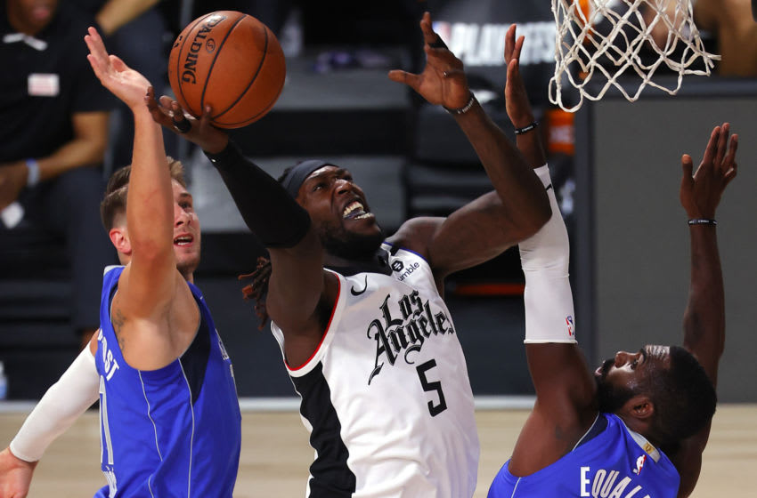 LAKE BUENA VISTA, FLORIDA - AUGUST 21: Montrezl Harrell (5) of the LA Clippers (Photo by Mike Ehrmann/Getty Images)