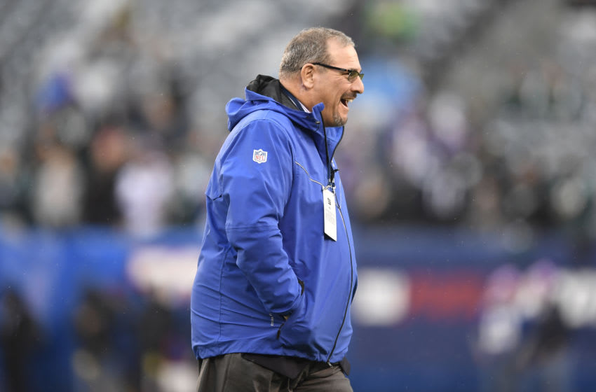 EAST RUTHERFORD, NEW JERSEY - DECEMBER 29: Dave Gettleman General manager of the New York Giants (Photo by Sarah Stier/Getty Images)