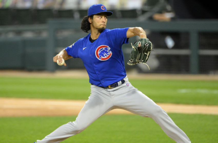 CHICAGO - SEPTEMBER 25: Yu Darvish #11 of the Chicago Cubs (Photo by Ron Vesely/Getty Images)