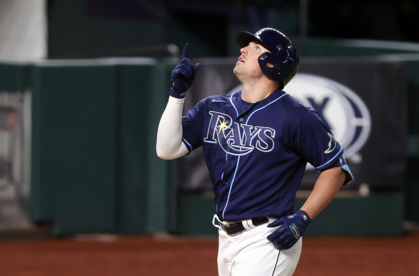 ARLINGTON, TEXAS - OCTOBER 24: Hunter Renfroe #11 of the Tampa Bay Rays (Photo by Tom Pennington/Getty Images)