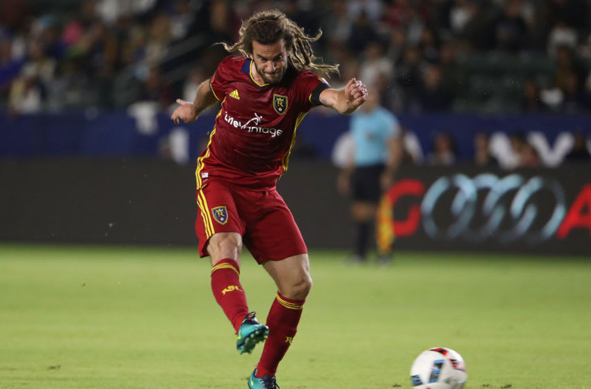 CARSON, CA - OCTOBER 26: Kyle Beckerman #5 of Real Salt Lake (Photo by Victor Decolongon/Getty Images)