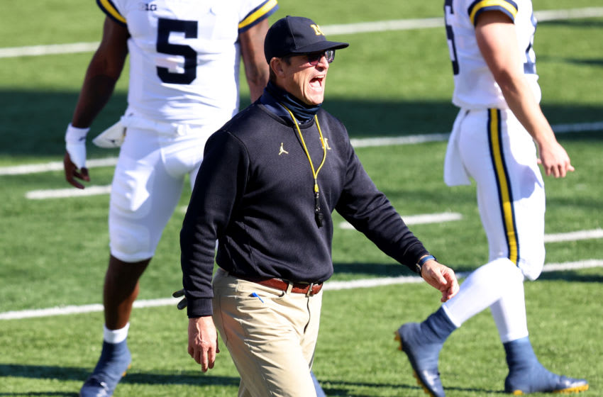 Jim Harbaugh, Michigan Wolverines. (Photo by Justin Casterline/Getty Images)
