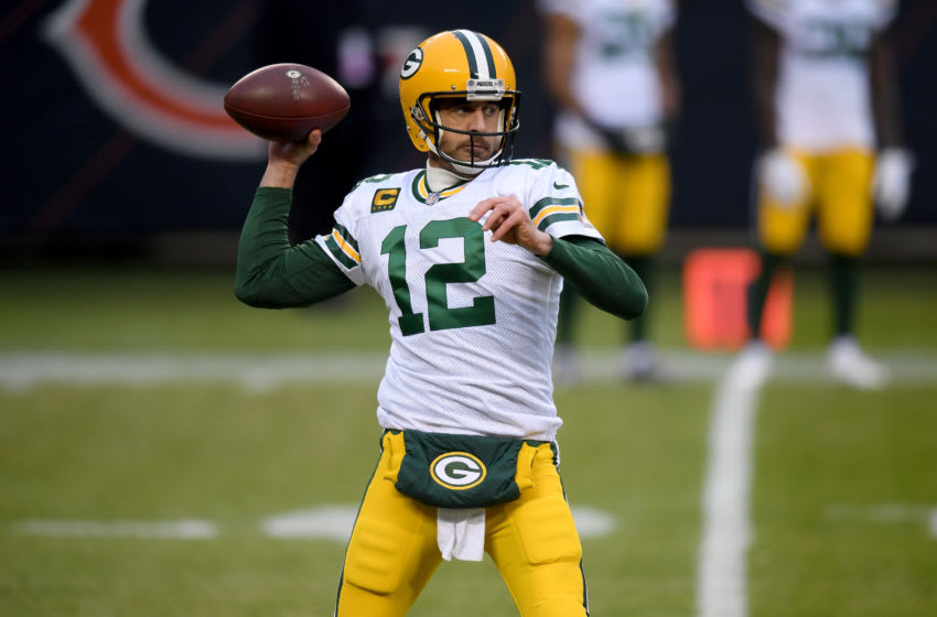 Green Bay Packers QB Aaron Rodgers (Photo by Quinn Harris/Getty Images)
