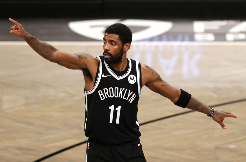 NEW YORK, NEW YORK - JANUARY 01: Kyrie Irving #11 of the Brooklyn Nets (Photo by Sarah Stier/Getty Images)