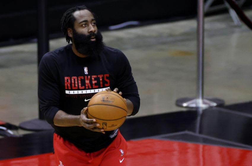 HOUSTON, TEXAS - JANUARY 10: James Harden #13 of the Houston Rockets (Photo by Carmen Mandato/Getty Images)
