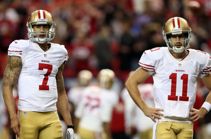 Colin Kaepernick, Alex Smith, San Francisco 49ers. (Photo by Streeter Lecka/Getty Images)