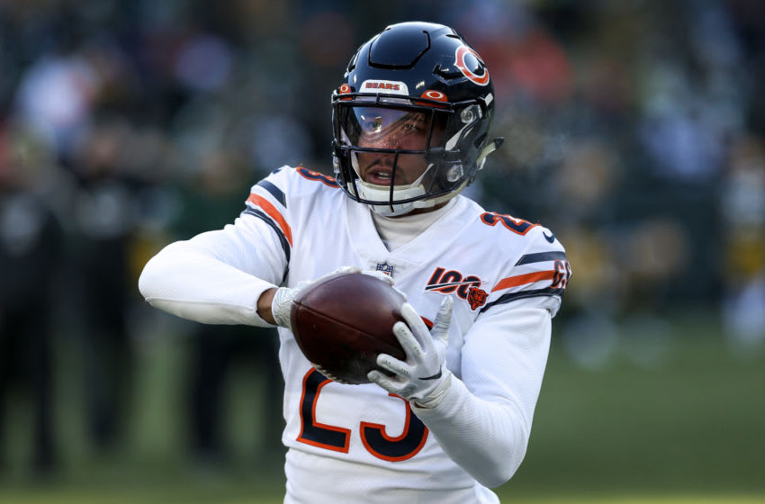 GREEN BAY, WISCONSIN - DECEMBER 15: Kyle Fuller #23 of the Chicago Bears warms up before the game against the Green Bay Packers at Lambeau Field on December 15, 2019 in Green Bay, Wisconsin. (Photo by Dylan Buell/Getty Images)