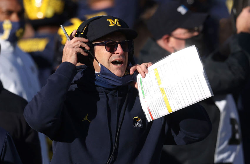 Jim Harbaugh, Michigan Wolverines. (Photo by Gregory Shamus/Getty Images)