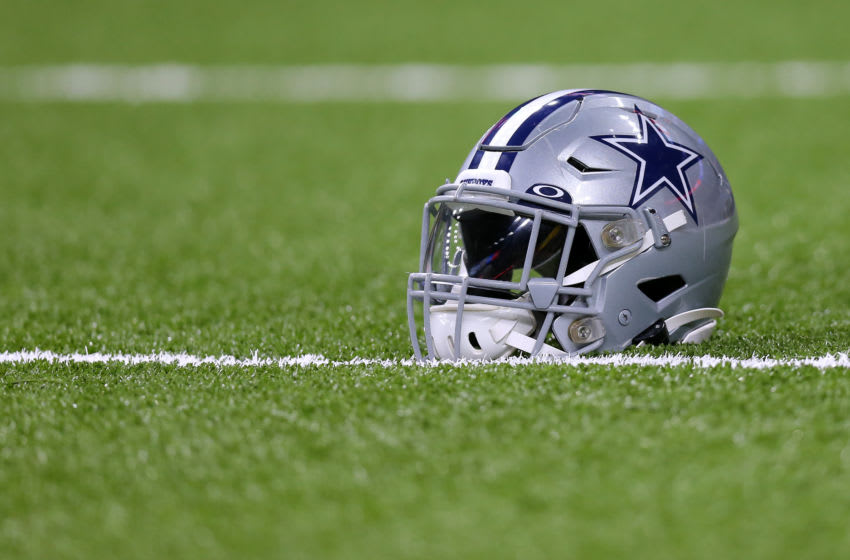 NEW ORLEANS, LOUISIANA - SEPTEMBER 29: A Dallas Cowboys helmet is pictured during a game against the New Orleans Saints at the Mercedes Benz Superdome on September 29, 2019 in New Orleans, Louisiana. (Photo by Jonathan Bachman/Getty Images)