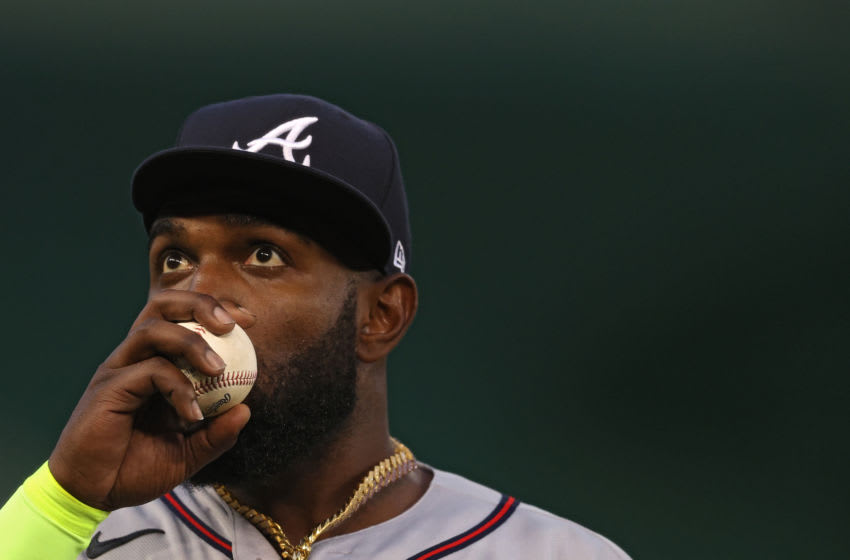 Braves outfielder Marcell Ozuna. (Patrick Smith/Getty Images)