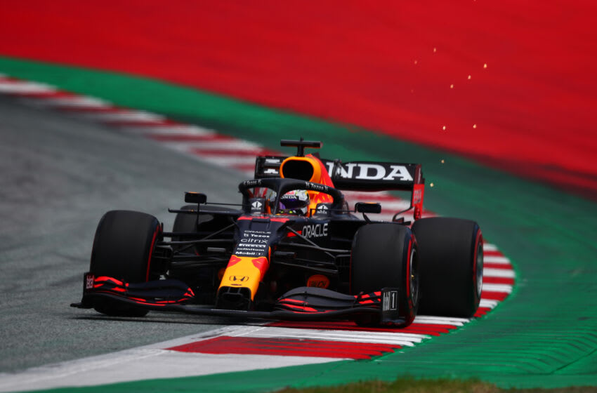 RED BULL RING, SPIELBERG, AUSTRIA - 2021/06/26: Max Verstappen of Red Bull Racing on track during free practice of Styrian Gran Prix 2021. (Photo by Marco Canoniero/LightRocket via Getty Images)