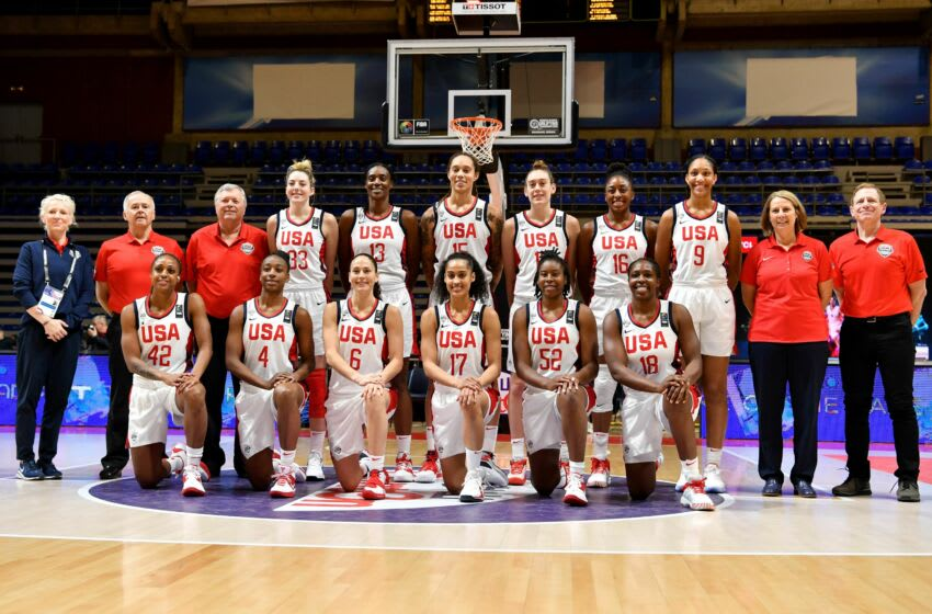 U.S. basketball women's team. (Photo by ANDREJ ISAKOVIC / AFP) (Photo by ANDREJ ISAKOVIC/AFP via Getty Images)
