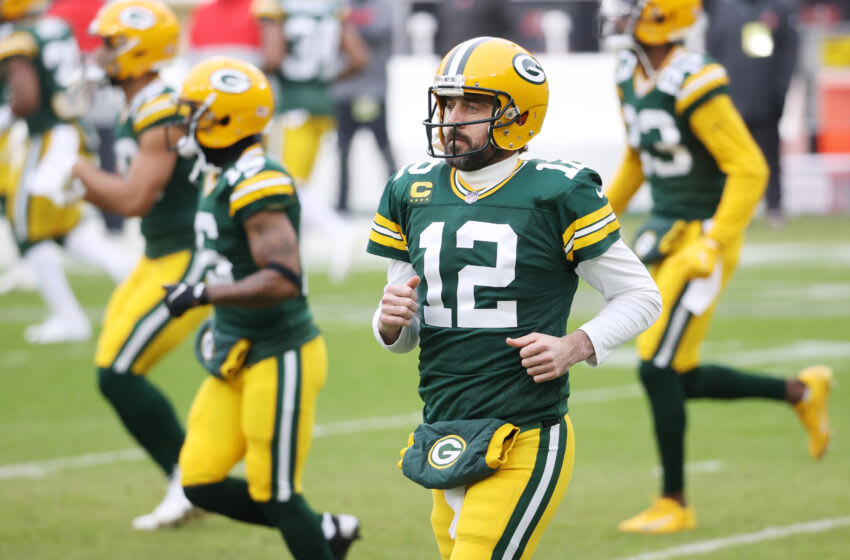 Aaron Rodgers, Green Bay Packers. (Photo by Dylan Buell/Getty Images)