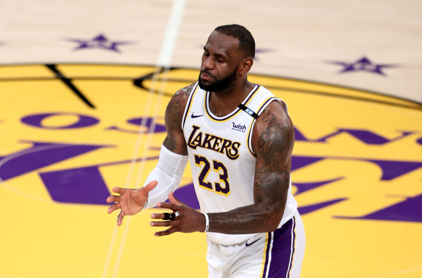 LeBron James, Los Angeles Lakers. (Photo by Sean M. Haffey/Getty Images)