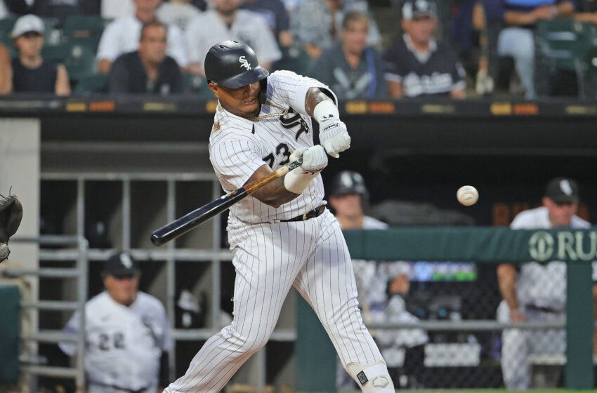 CHICAGO, ILLINOIS - JUNE 30: Yermin Mercedes #73 of the Chicago White Sox bats against the Minnesota Twins at Guaranteed Rate Field on June 30, 2021 in Chicago, Illinois. (Photo by Jonathan Daniel/Getty Images)