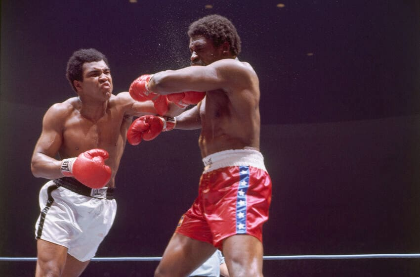 LAS VEGAS, NV - MAY 1975: Muhammad Ali fights Ron Lyle on May 16, 1975 in Las Vegas, Nevada. Ali defeated Lyle.(Photo by Herb Scharfman/Sports Imagery/Getty Images)