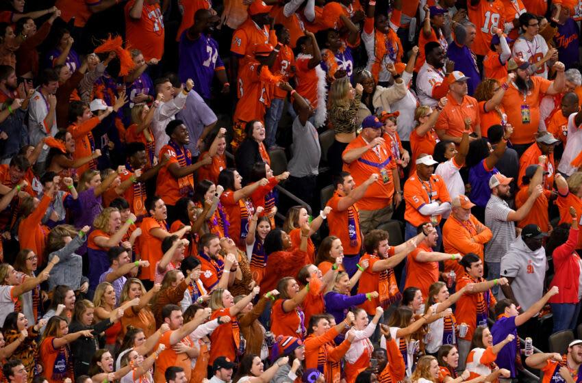 Clemson football fans. (Jamie Schwaberow/Getty Images)