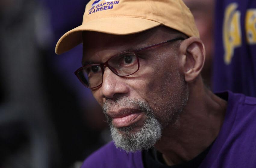 Kareem Abdul-Jabbar Los Angeles Lakers (Photo by Kevork S. Djansezian/Getty Images)