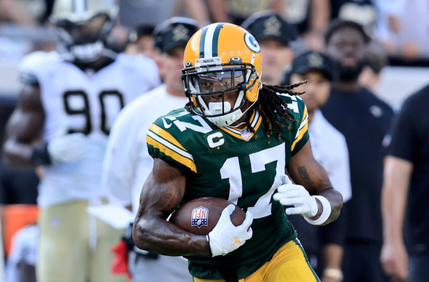 Green Bay Packers wide receiver DaVante Adams (Photo by Sam Greenwood/Getty Images)