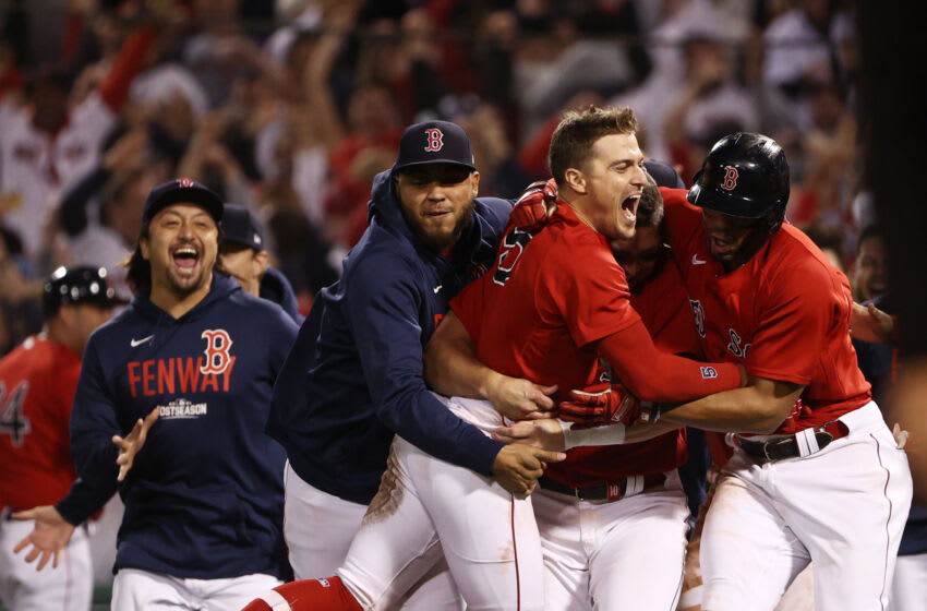 Enrique Hernandez #5 of the Boston Red Sox. (Winslow Townson/Getty Images)