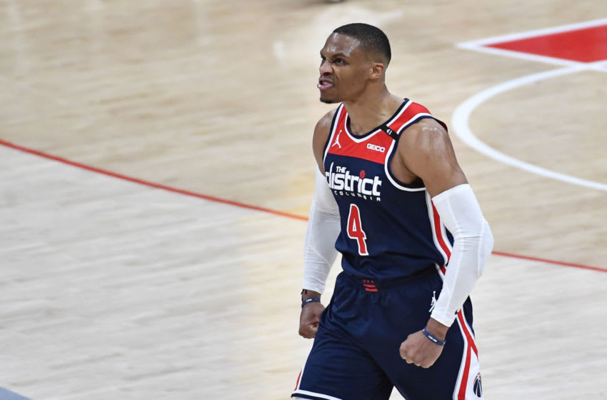 Wizards star Russell Westbrook. Mandatory Credit: Brad Mills-USA TODAY Sports