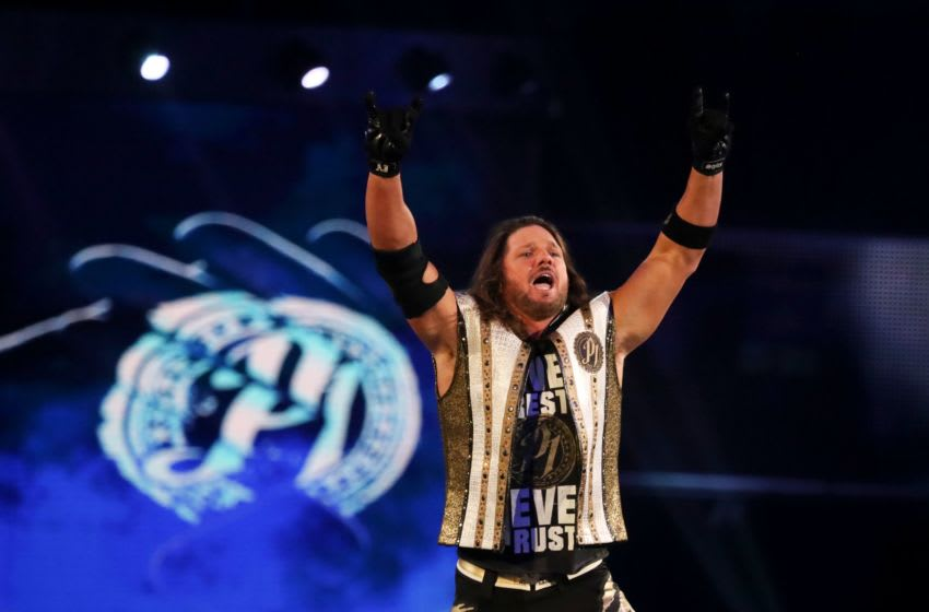 A.J. Styles pumps up the crowd during WWE Smackdown on May 7. Wweraw 04