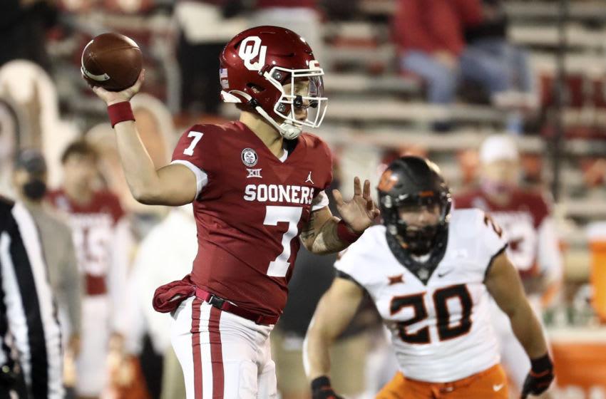 Spencer Rattler, Oklahoma Sooners. Mandatory Credit: Kevin Jairaj-USA TODAY Sports