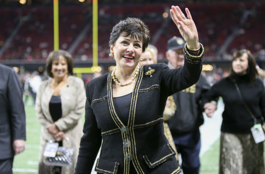 Gayle Benson, New Orleans Saints. (Mandatory Credit: Brett Davis-USA TODAY Sports)