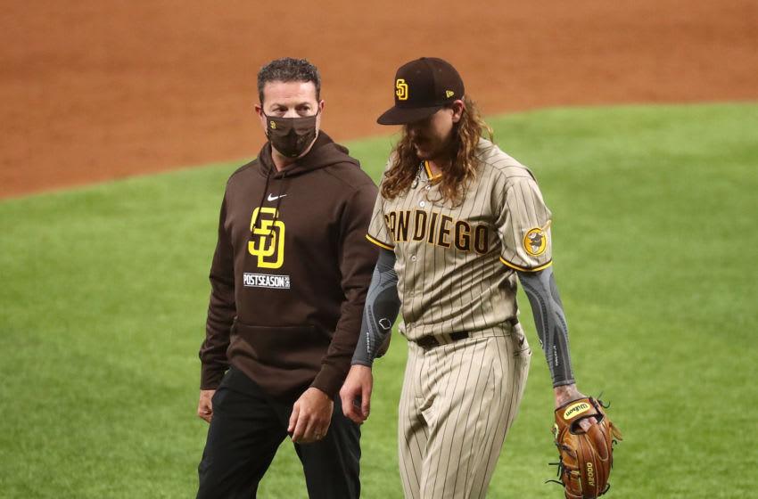 Mike Clevinger, San Diego Padres. (Mandatory Credit: Kevin Jairaj-USA TODAY Sports)