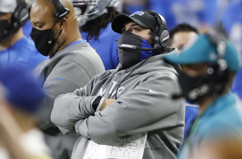 Matt Patricia, Detroit Lions. (Mandatory Credit: Raj Mehta-USA TODAY Sports)
