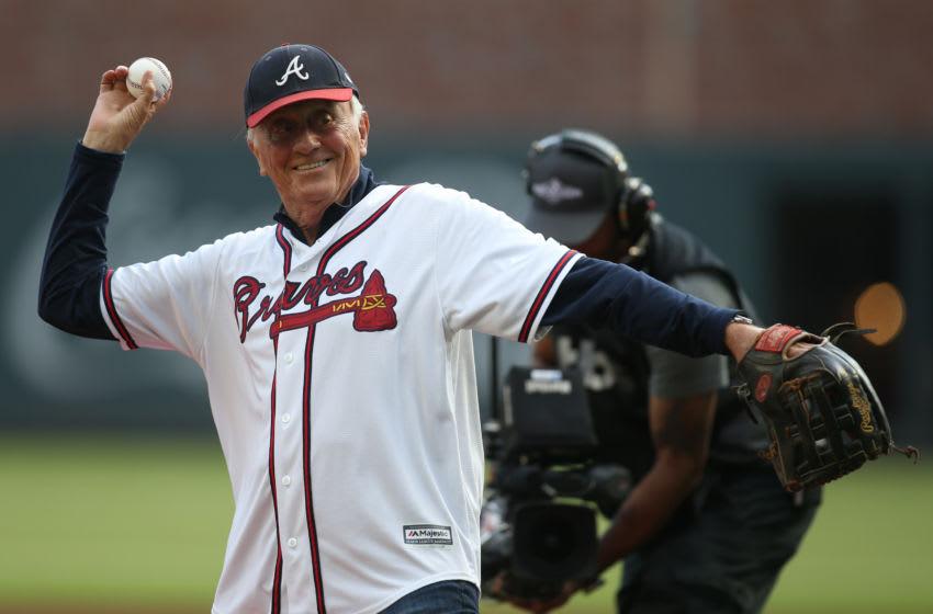 Oct 9, 2019; Atlanta, GA, USA; Atlanta Braves former pitcher Phil Niekro Mandatory Credit: Brett Davis-USA TODAY Sports