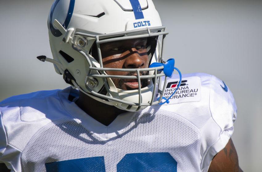 Darius Leonard, Indianapolis Colts. (Mandatory Credit: Marc Lebryk-USA TODAY Sports)