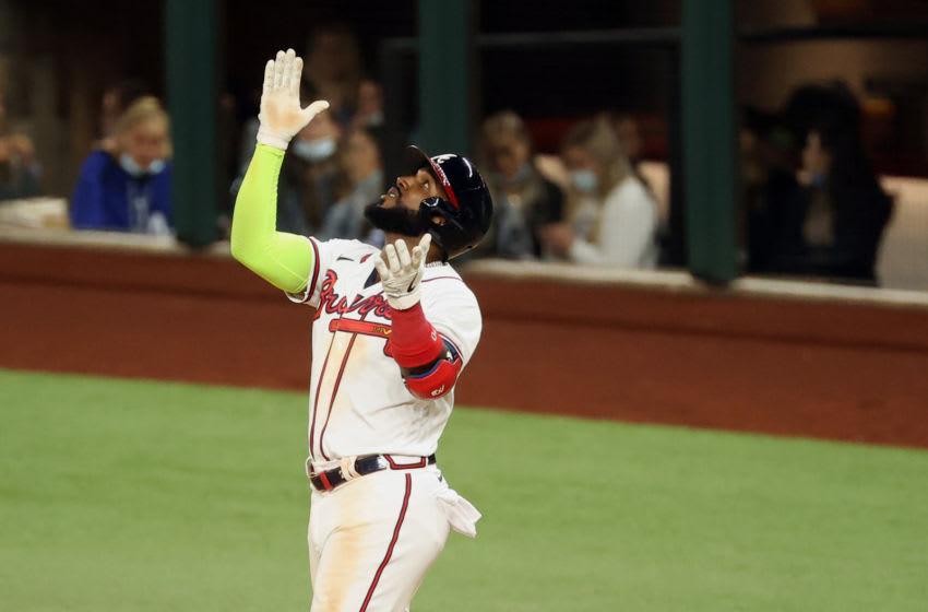 Braves power batter Marcell Ozuna. Mandatory Credit: Kevin Jairaj-USA TODAY Sports
