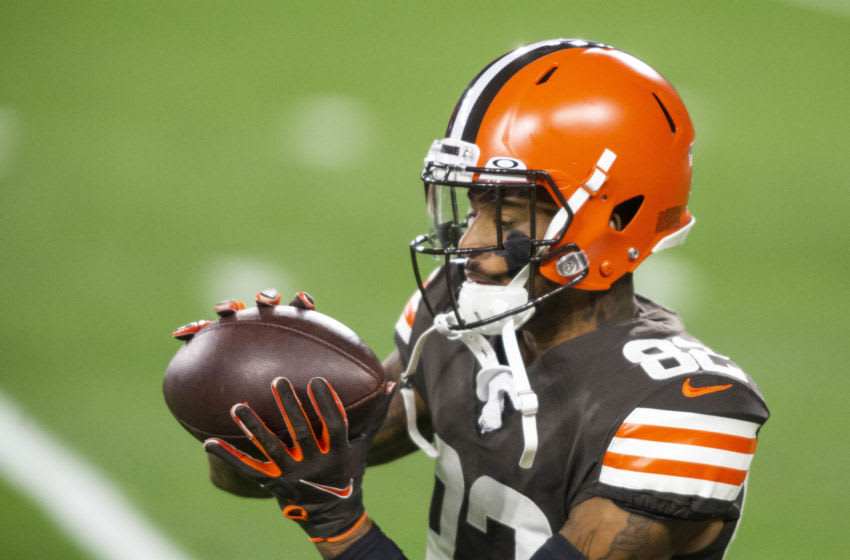Rashard Higgins, Cleveland Browns. (Mandatory Credit: Scott Galvin-USA TODAY Sports)