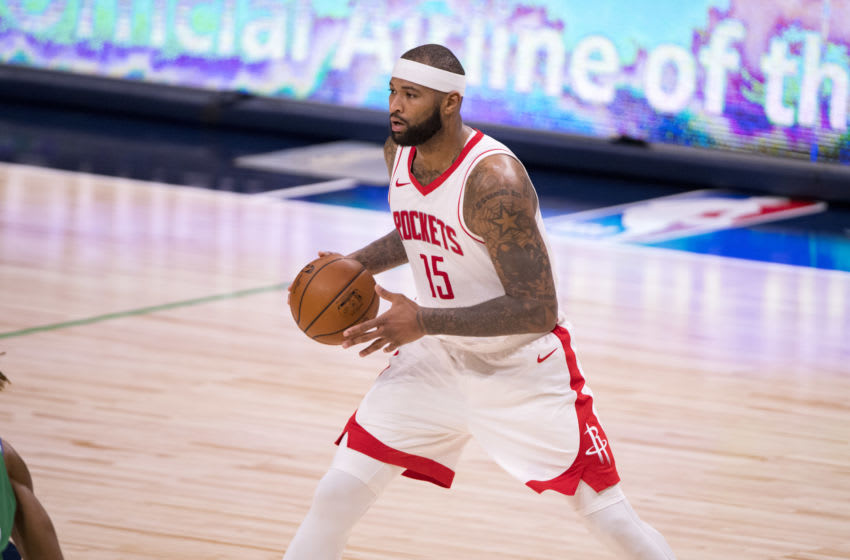 Former Lakers and Houston Rockets center Demarcus Cousins. Mandatory Credit: Jerome Miron-USA TODAY Sports