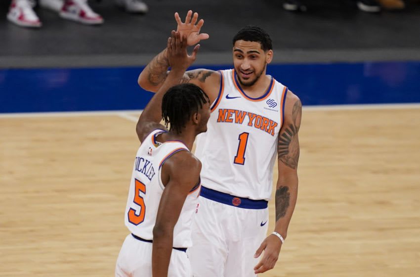 Knicks forward Obi Toppin. Mandatory Credit: John Minchillo/POOL PHOTOS-USA TODAY Sports