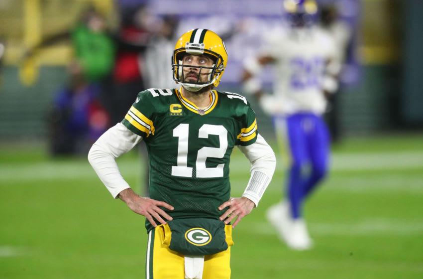 Aaron Rodgers, Green Bay Packers. (Mandatory Credit: Mark J. Rebilas-USA TODAY Sports)