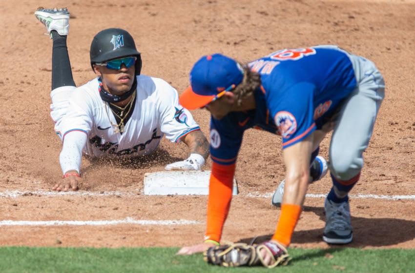 Miami Marlins, New York Mets. (Mandatory Credit: Sam Navarro-USA TODAY Sports)