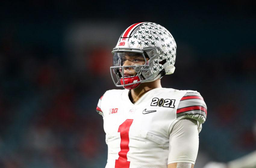 Justin Fields, Ohio State Buckeyes. (Mandatory Credit: Mark J. Rebilas-USA TODAY Sports)