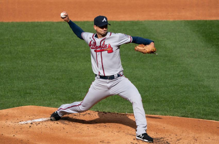 Charlie Morton, Atlanta Braves. (Mandatory Credit: Bill Streicher-USA TODAY Sports)
