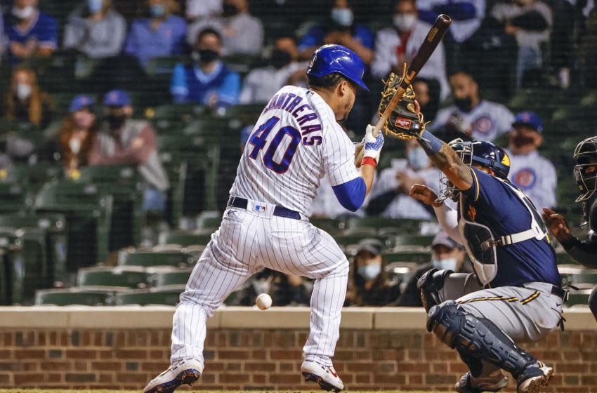 Chicago Cubs catcher Willson Contreras Mandatory Credit: Kamil Krzaczynski-USA TODAY Sports