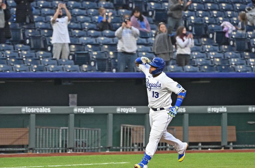 Royals DH Salvador Perez. Mandatory Credit: Peter Aiken-USA TODAY Sports
