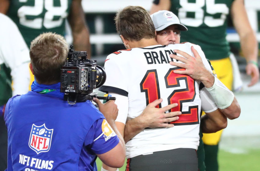 Tom Brady and Aaron Rodgers. (Kim Klement-USA TODAY Sports)