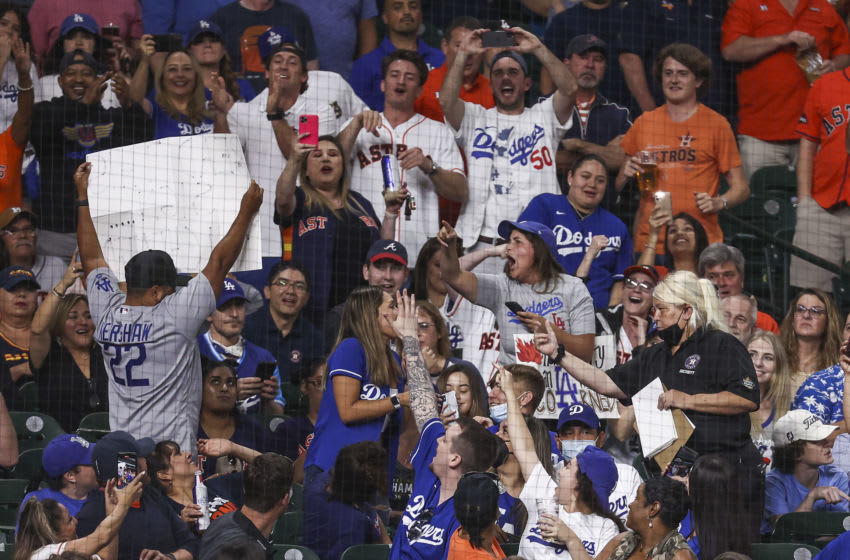 Dodgers fans in Houston. (Troy Taormina-USA TODAY Sports)