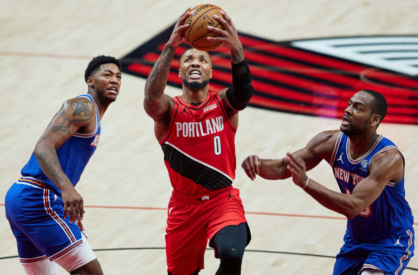 Damian Lillard, Portland Trail Blazers, New York Knicks. (Mandatory Credit: Craig Mitchelldyer-USA TODAY Sports)