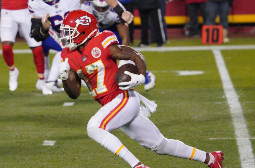 Mecole Hardman, Kansas City Chiefs. (Mandatory Credit: Denny Medley-USA TODAY Sports)