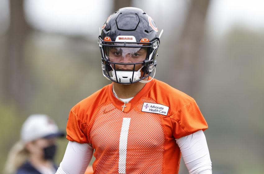 Bears quarterback Justin Fields. (Kamil Krzaczynski-USA TODAY Sports)